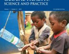Source - Global Health: Science and Practice Vol. 1, No. 2 August 01, 2013. Description - Cover page.