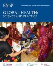Source - Global Health: Science and Practice Vol. 3, No. 3 September 10, 2015. Description - Cover page.