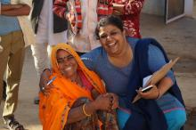 Women at a training event for smartphone-based data collection in their roles as Resident Enumerators (RE) for the PMA2020 project in Rajasthan, India. Source - © 2016 Linnea Zimmerman/PMA2020, Courtesy of Photoshare.