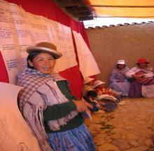 Bolivian woman mobilizing community support for postabortion care